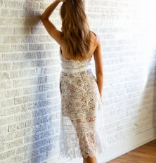 pretty white lace dress for spring wardrobe