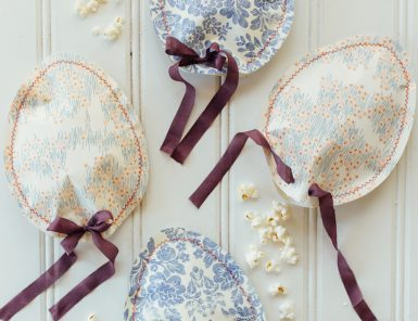 easter egg paper popcorn pouches
