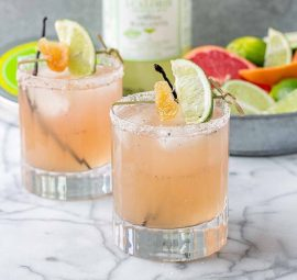 Grapefruit Ginger Vanilla Margarita