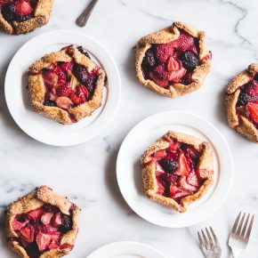 bumbleberry galettes with cornmeal crust