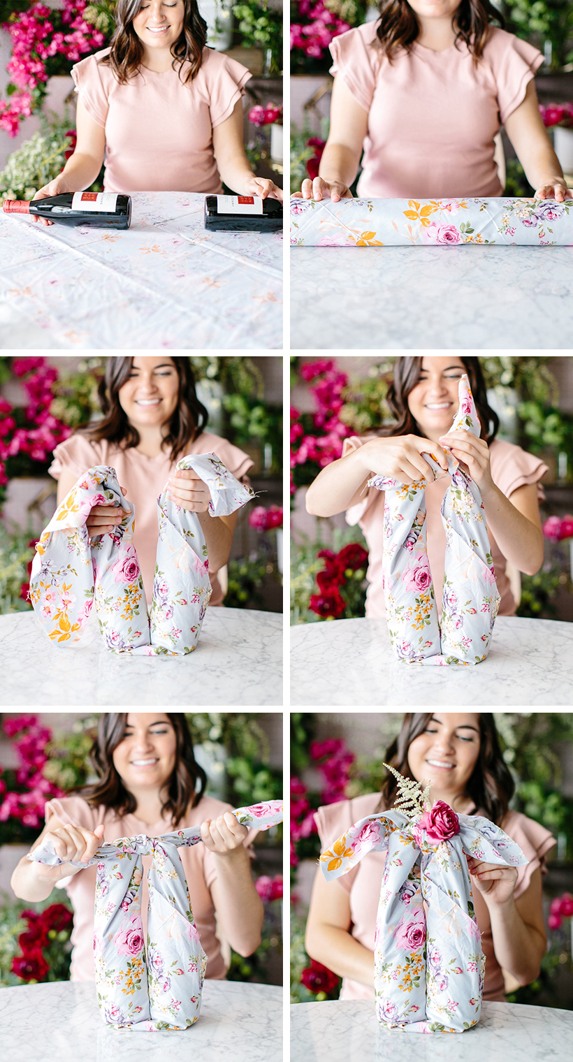 furoshiki wrapping, the prettiest way to wrap gifts with fabric!