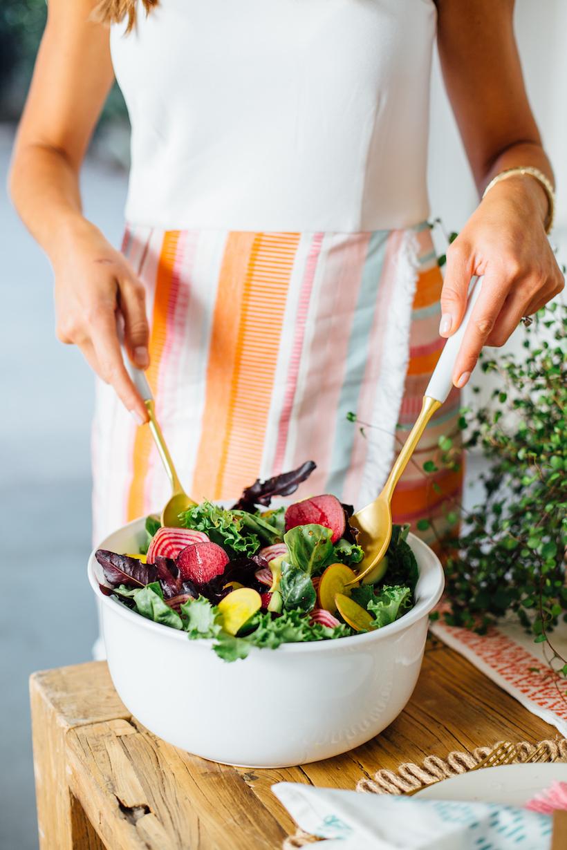 beet, avocado, & little gem lettuce salad