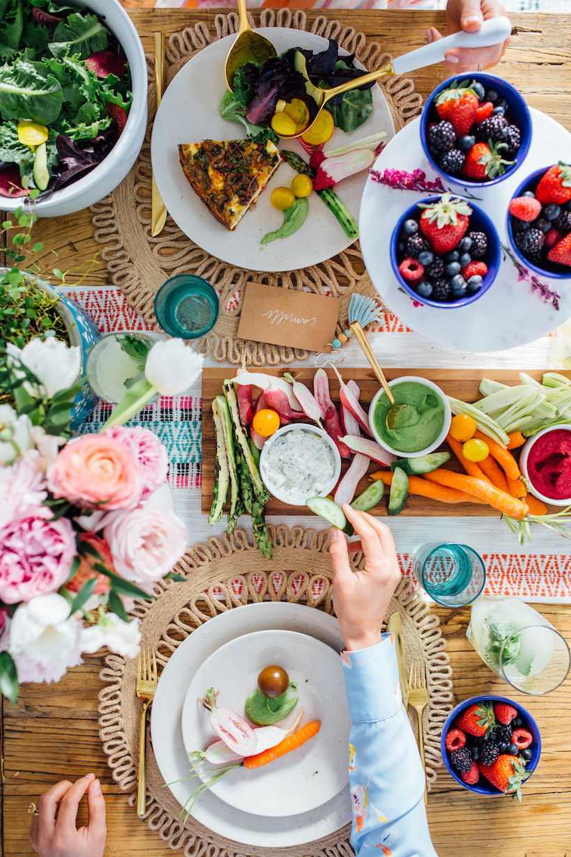 How to host the ultimate spring brunch just in time for easter how to make the ultimate crudit platter negle Images