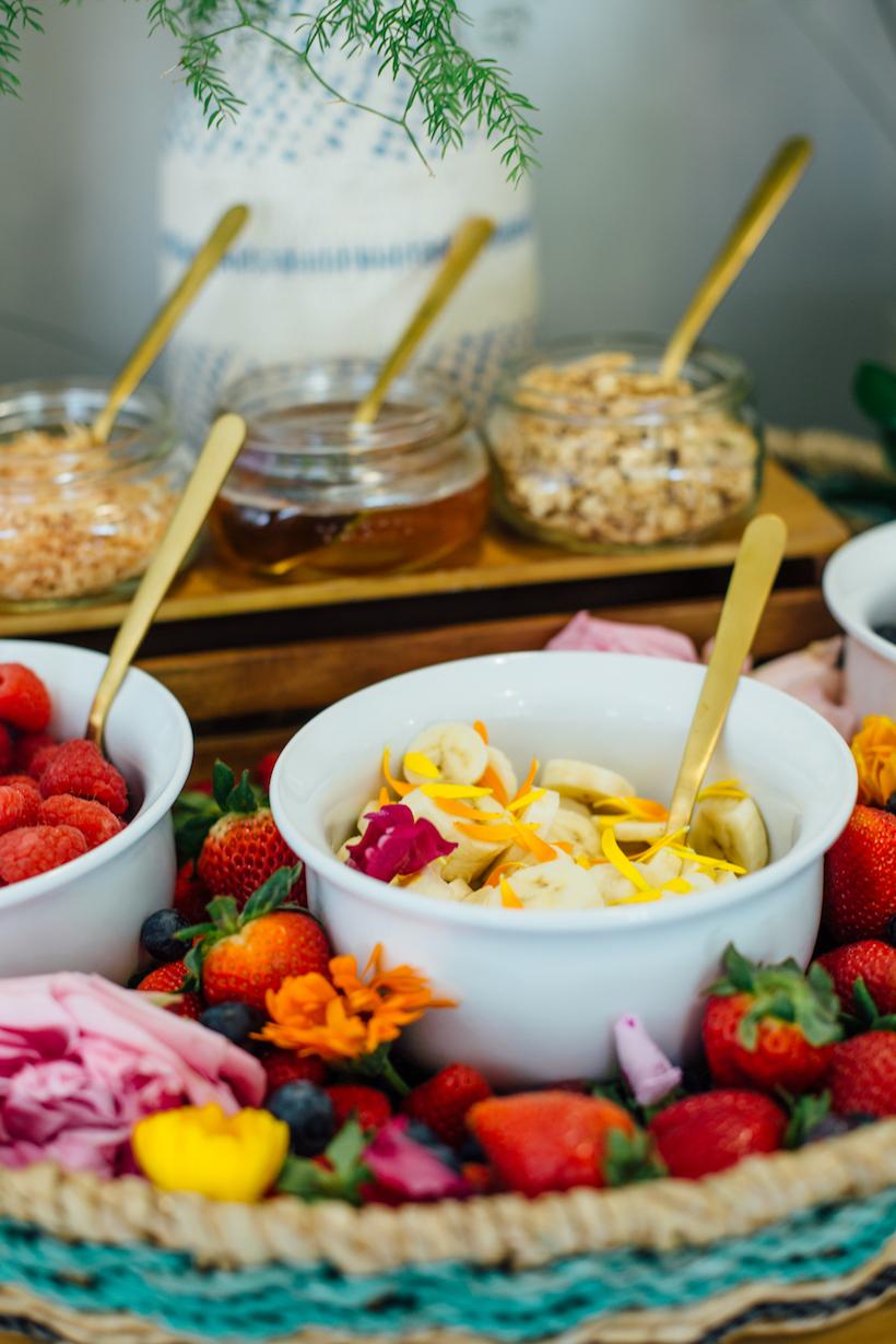 build your own yogurt parfait bar
