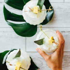coconut rum slushy