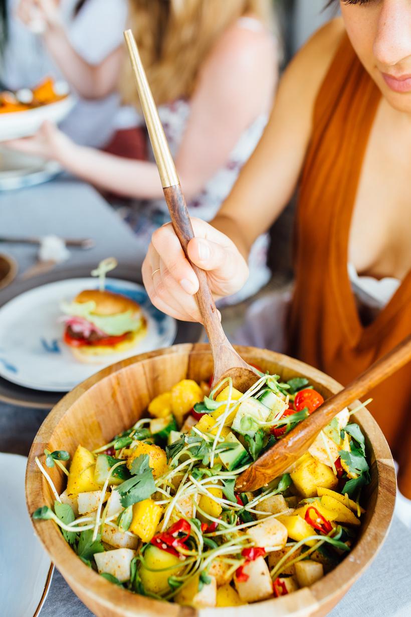 jicama mango chopped salad