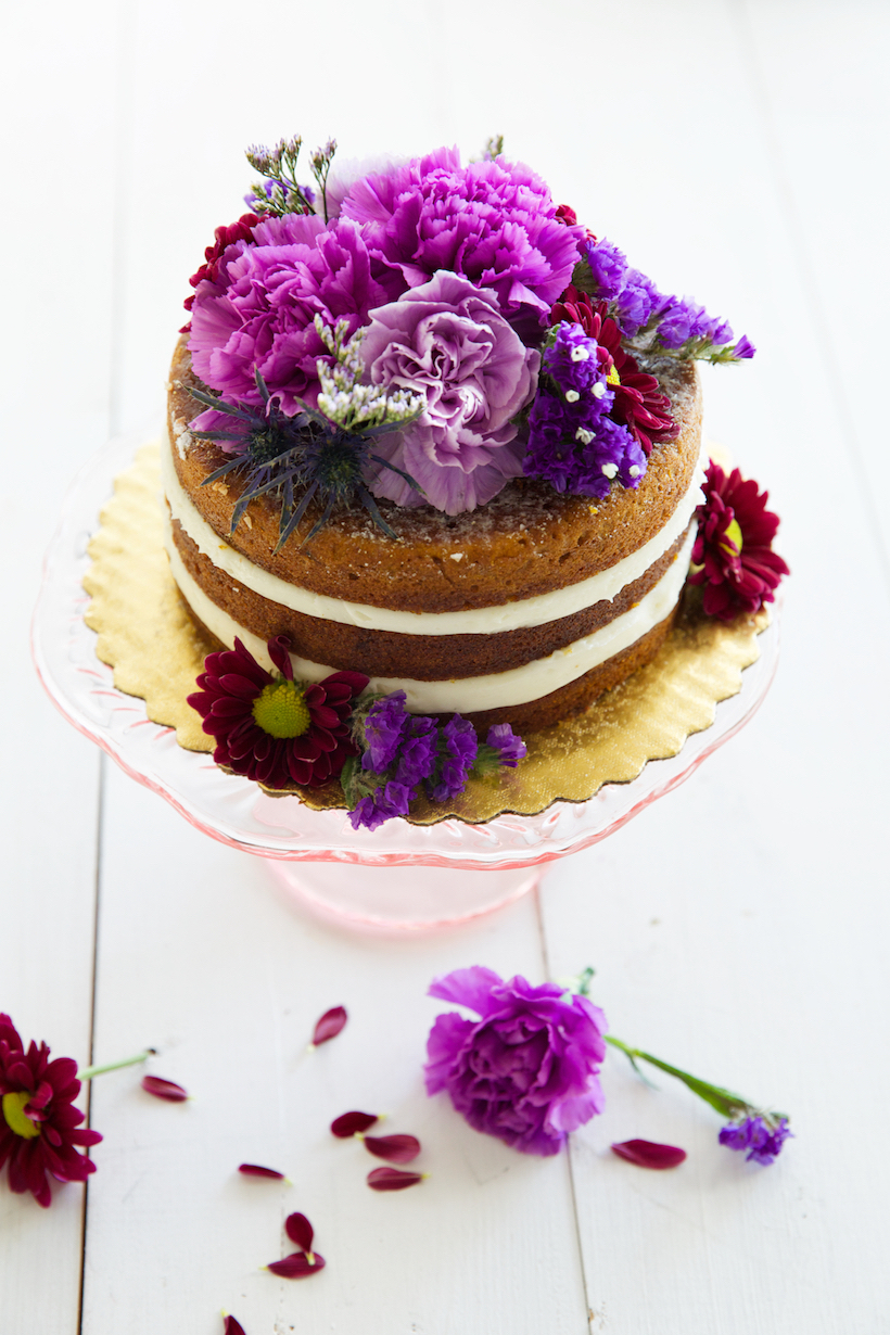 decorate a store bought cake with flowers!
