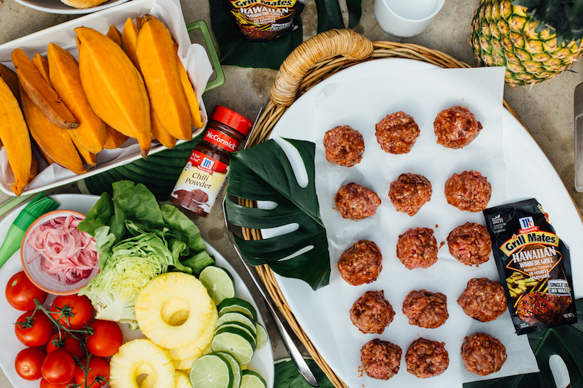 the making of a tropical dinner party menu