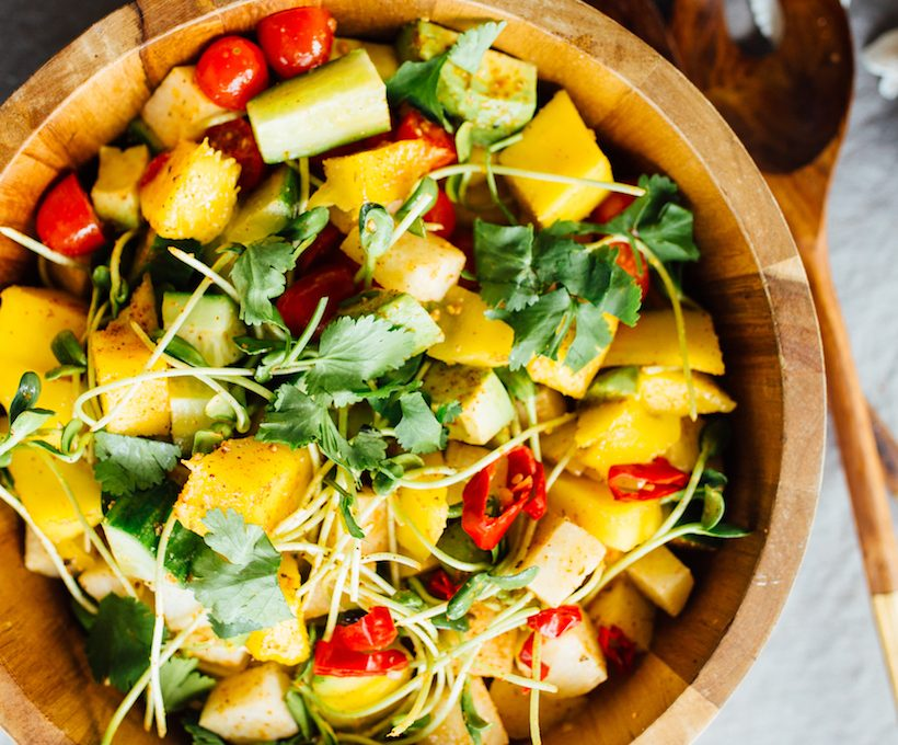 jicama mango chopped salad
