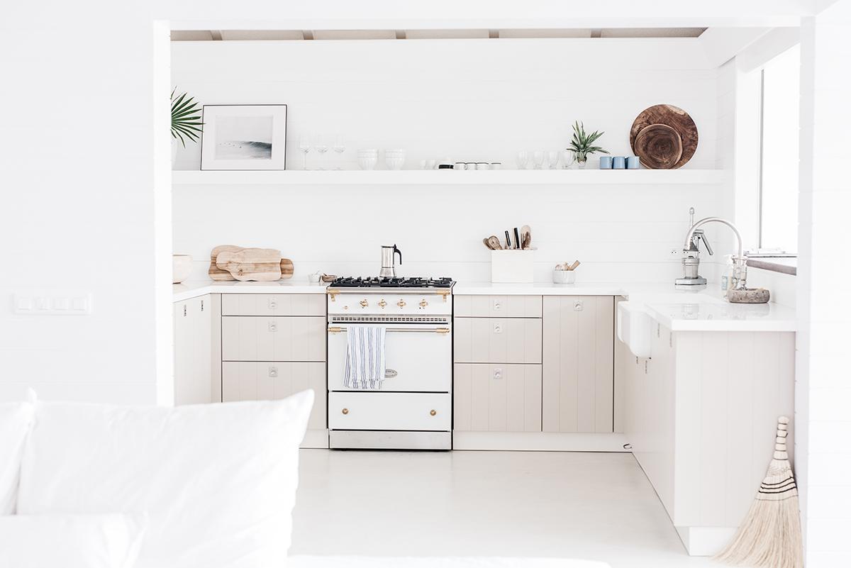 Kate Holstein's dreamy white kitchen in St. Barts