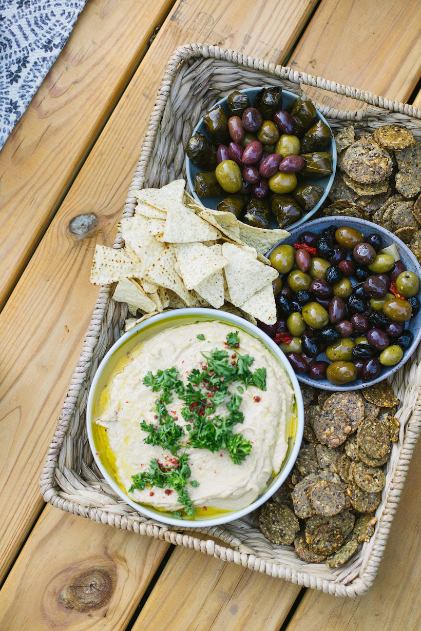 hummus and olives