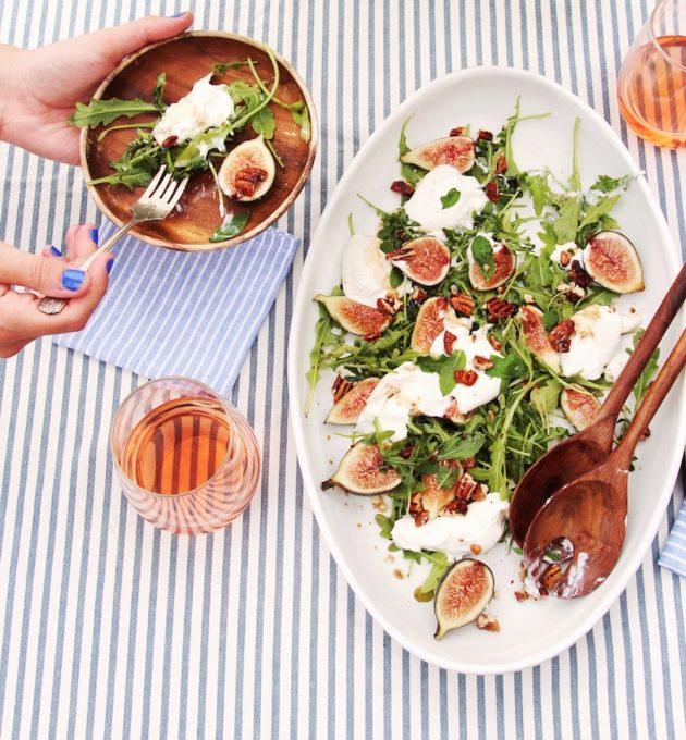 fig & burrata salad