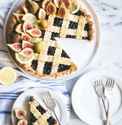 gorgeous fig & lemon crostata
