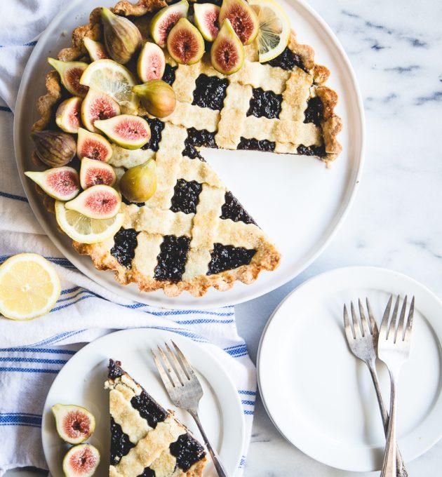 gorgeous fig & lemon crostata