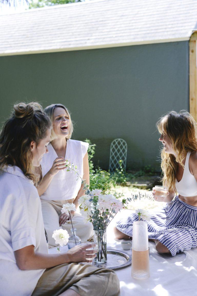 backyard happy hour picnic