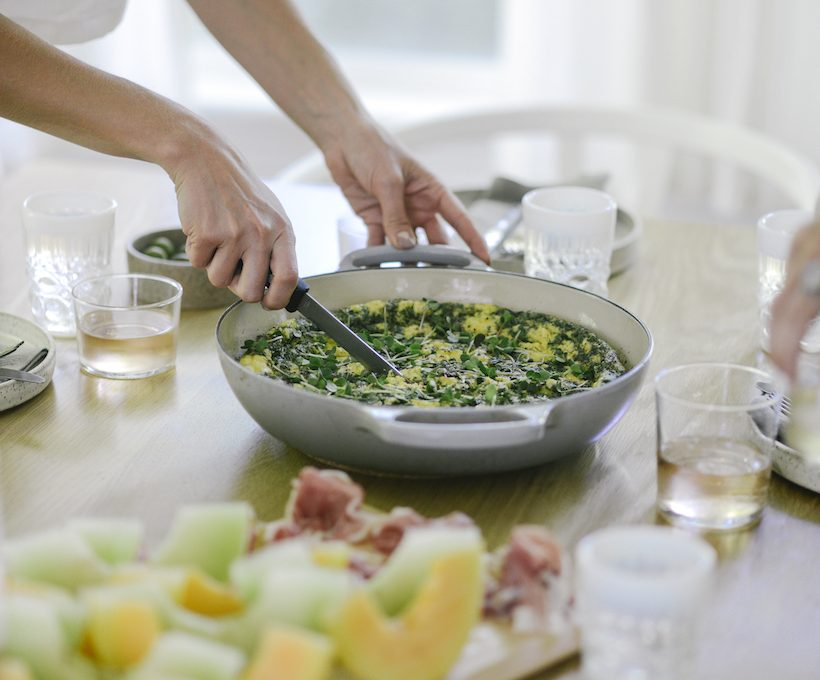 herb and caramelized onion frittata recipe