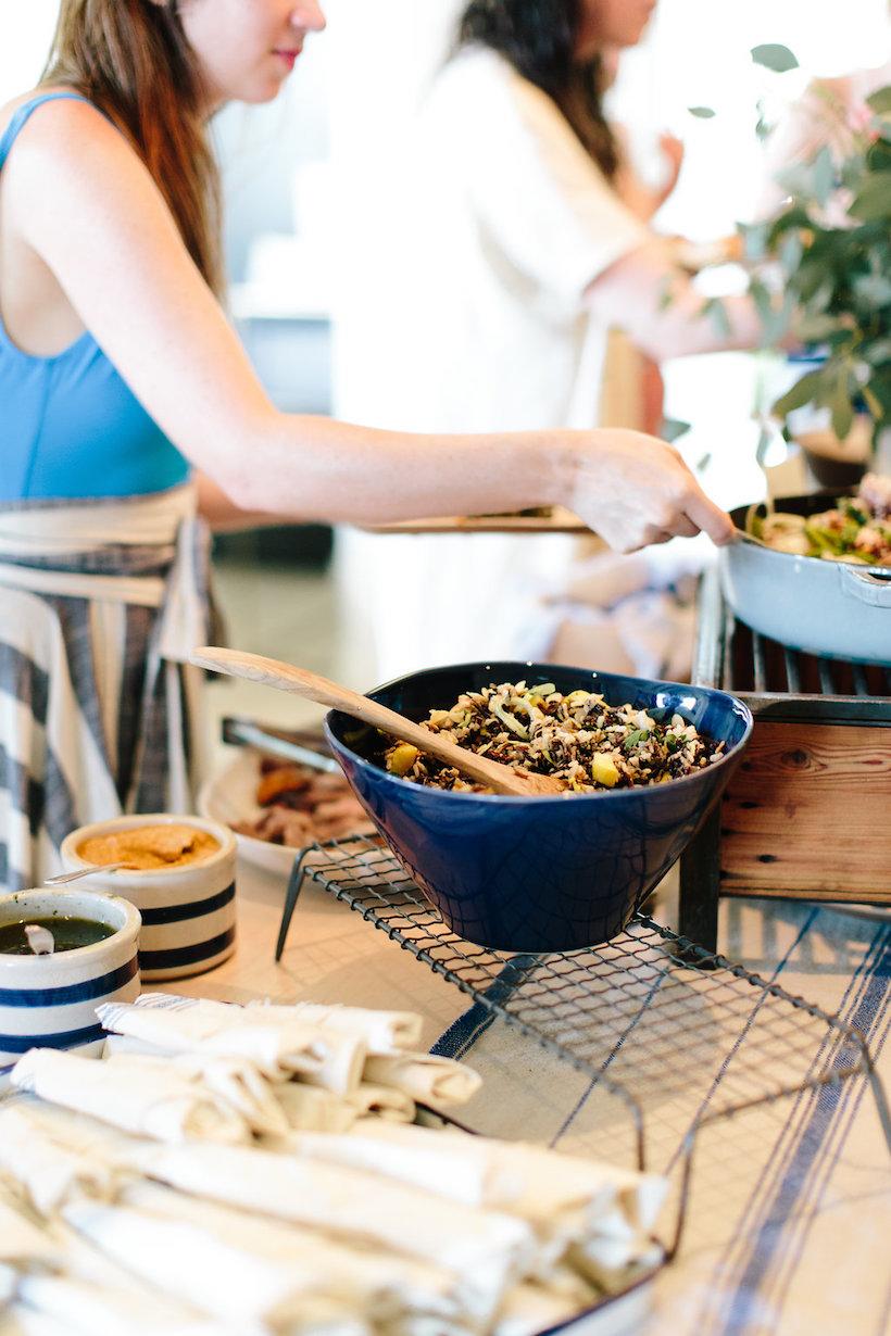 wild rice & leek salad