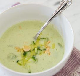 A delicious summer soup recipe from Alison Cayne of Haven's Kitchen