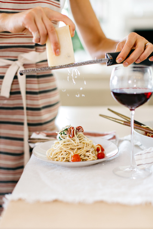 This mozzarella & tomato pasta recipe is my easy go-to weeknight dinner!