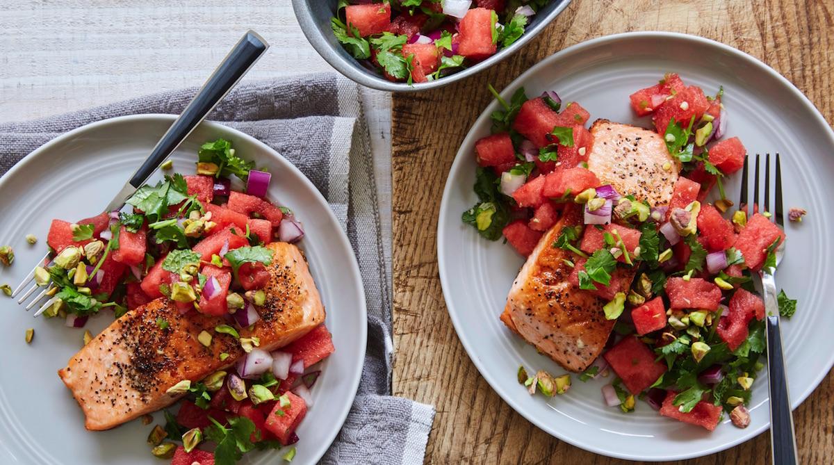 healthy salmon and watermelon recipe