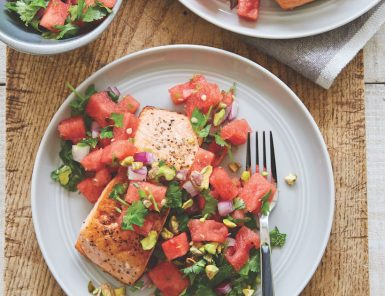 healthy salmon and watermelon recipe