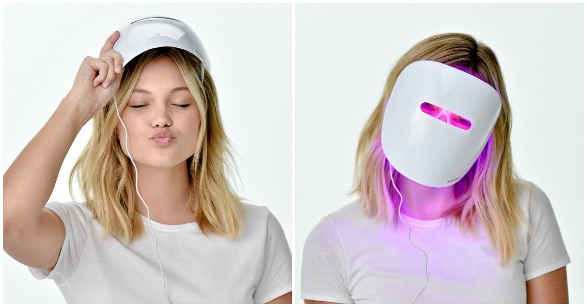 Light Therapy Acne Mask from Neutrogena Ready to go seriously high-tech? This light mask from Neutrogena is the first of its kind on the market; it uses a combination of blue and red light therapy to gently kill bacteria and reduce inflammation—and hey, you can freak out your roommate while you wear it!