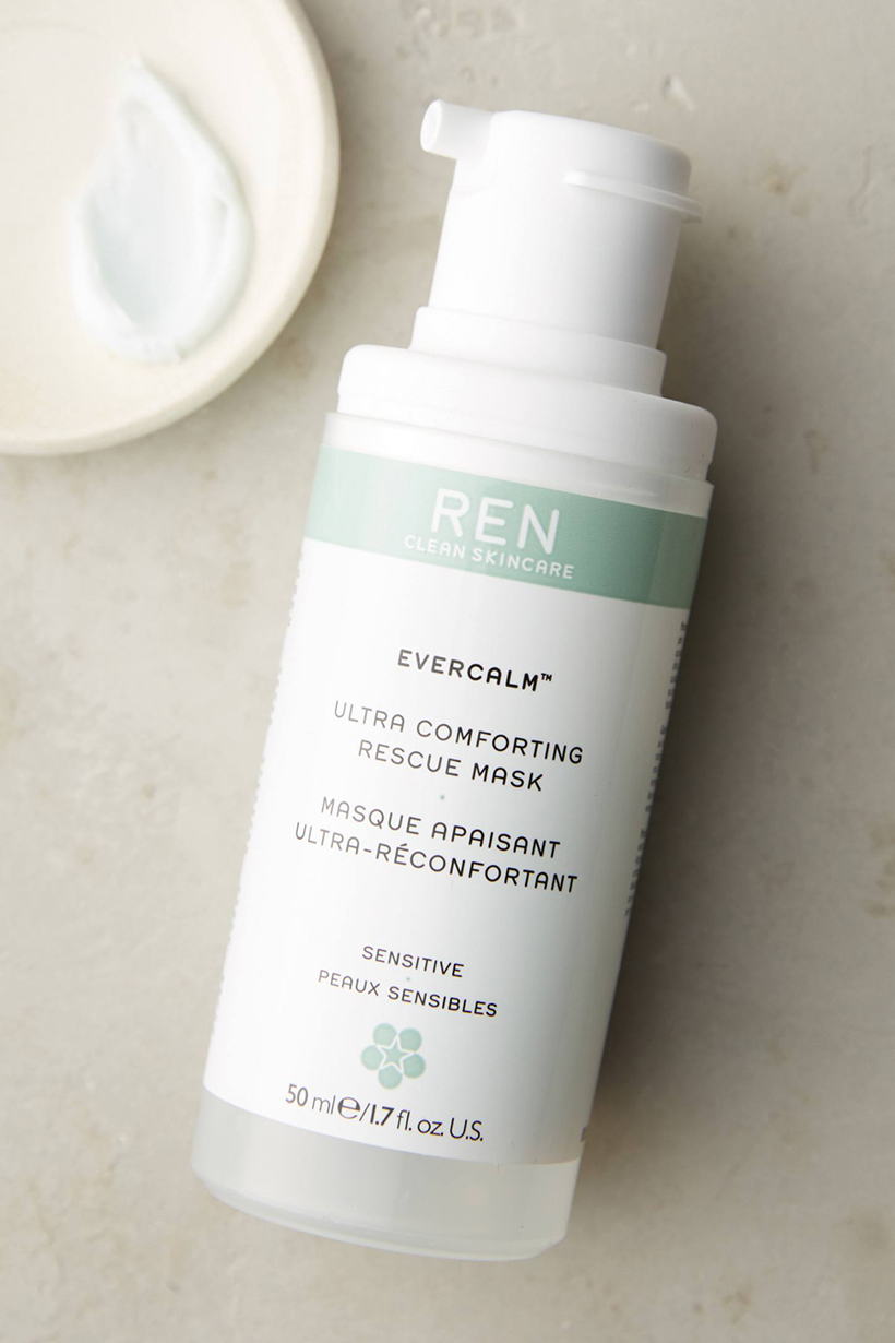 REN Evercalm Ultra Comforting Rescue Mask Sensitive types rejoice: this treatment's white mushroom extract works to immediately reduce redness and irritation, leaving skin calm and comfortable.