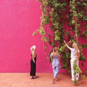 Jenn Rose Smith, Claire Zinnecker, and Kristen Kilpatrick at Casa Luis Barragan