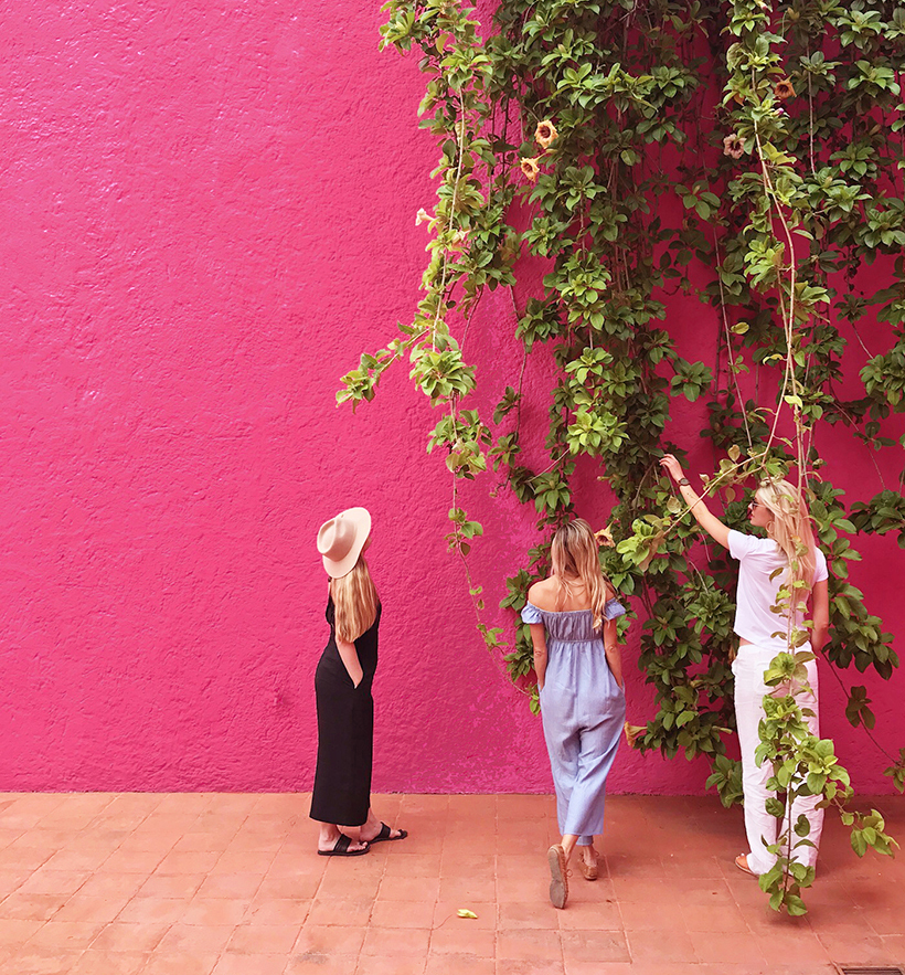 Jenn Rose Smith, Claire Zinnecker, and Kristen Kilpatrick at Casa Luis Barragan