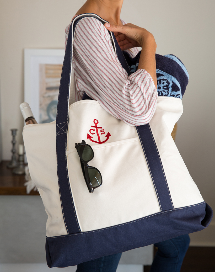 Adorable custom beach tote bag!