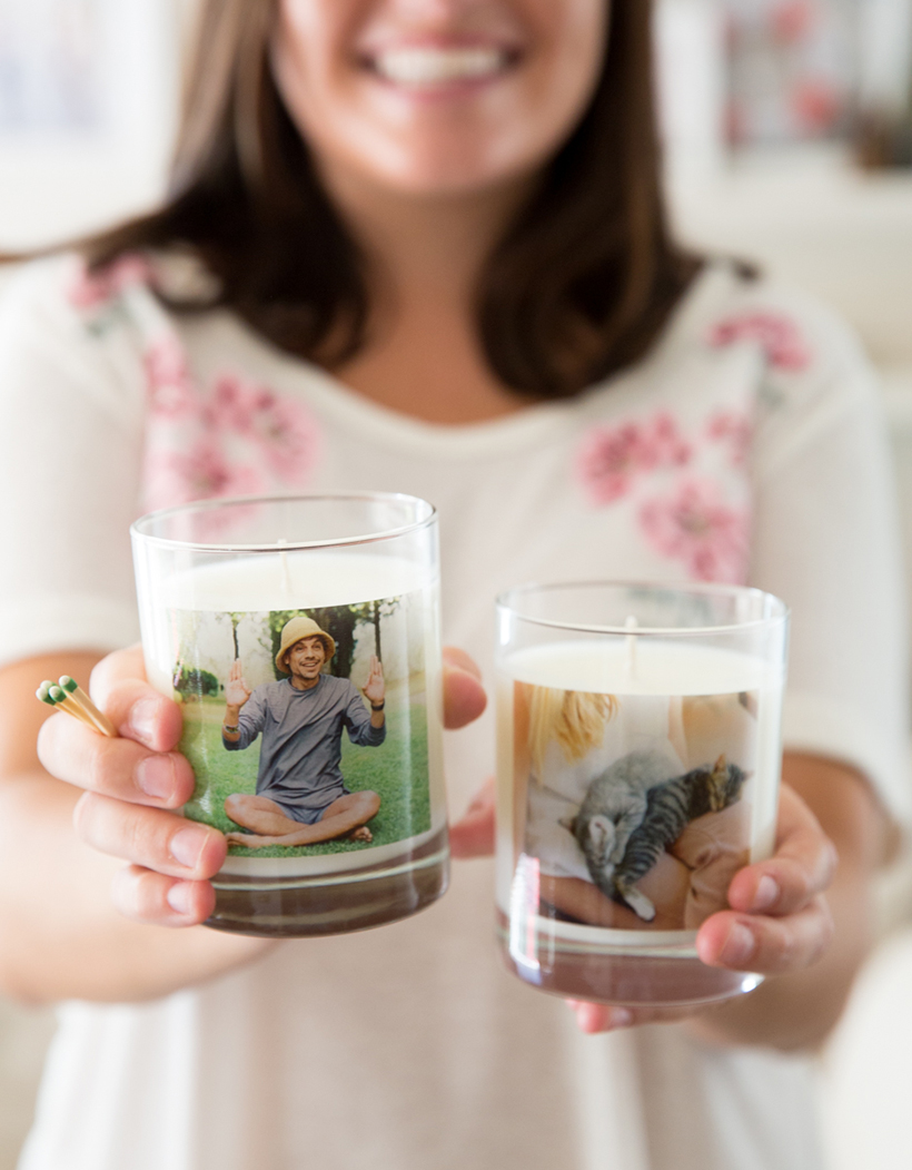 YES to funny moment photo candles!