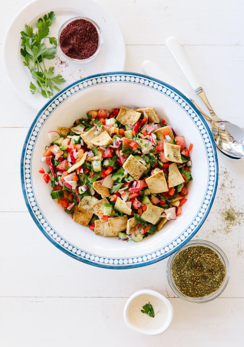middle eastern fatoush recipe!