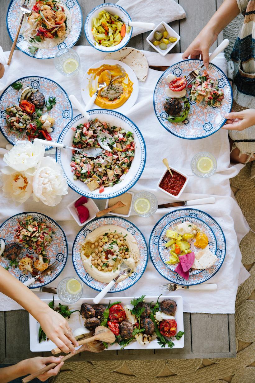 A laid-back Israeli feast