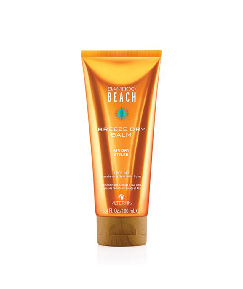 Bamboo Beach Breeze Dry Balm Air Dry Styler Perfect for any hair type, this texture-enhancing cream enhances movement while protecting your hair from UVA/UVB rays, making it the perfect flexible styler to throw in your beach bag.