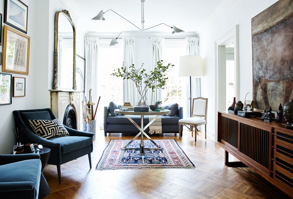 a glamorous brooklyn brownstone camille styles modern bohemian living room