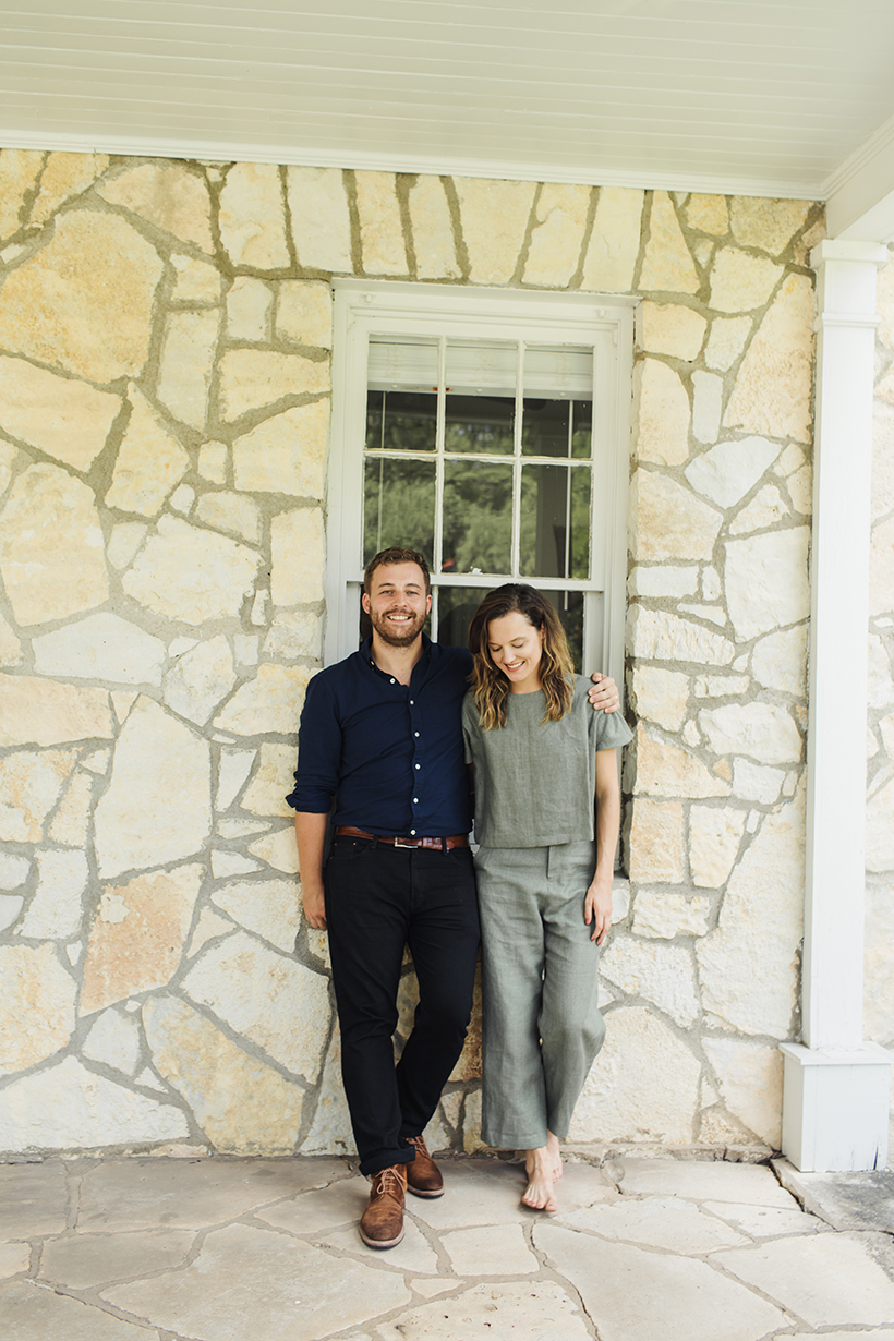 Mollie and Graham Brown at home in Austin, Texas.