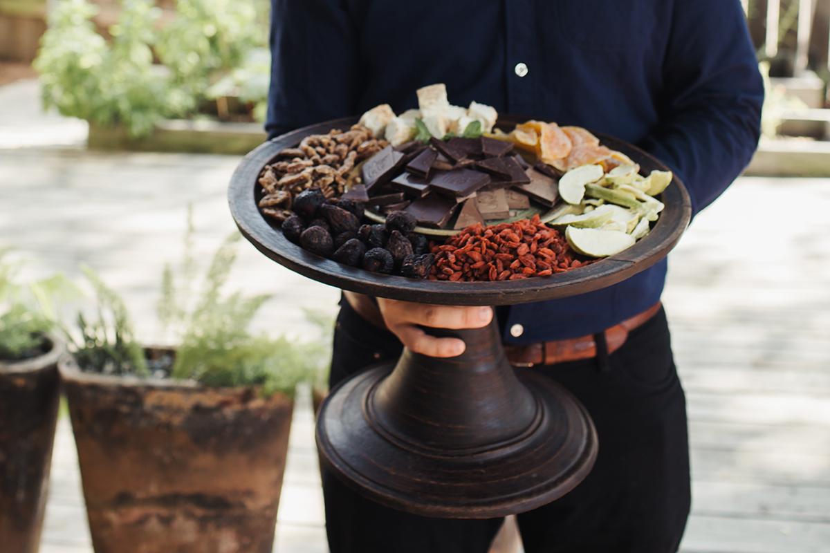 Chocolate and Dried Fruit Plate