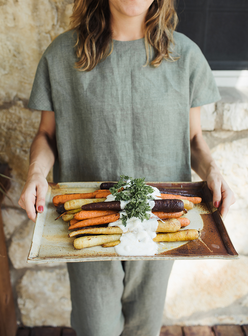 Moroccan Spiced Carrots with Yogurt