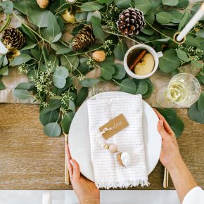 diy holiday dinner party runner