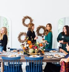camille styles friendsgiving with target