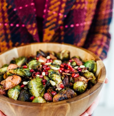 brussel sprouts with radishes & bacon