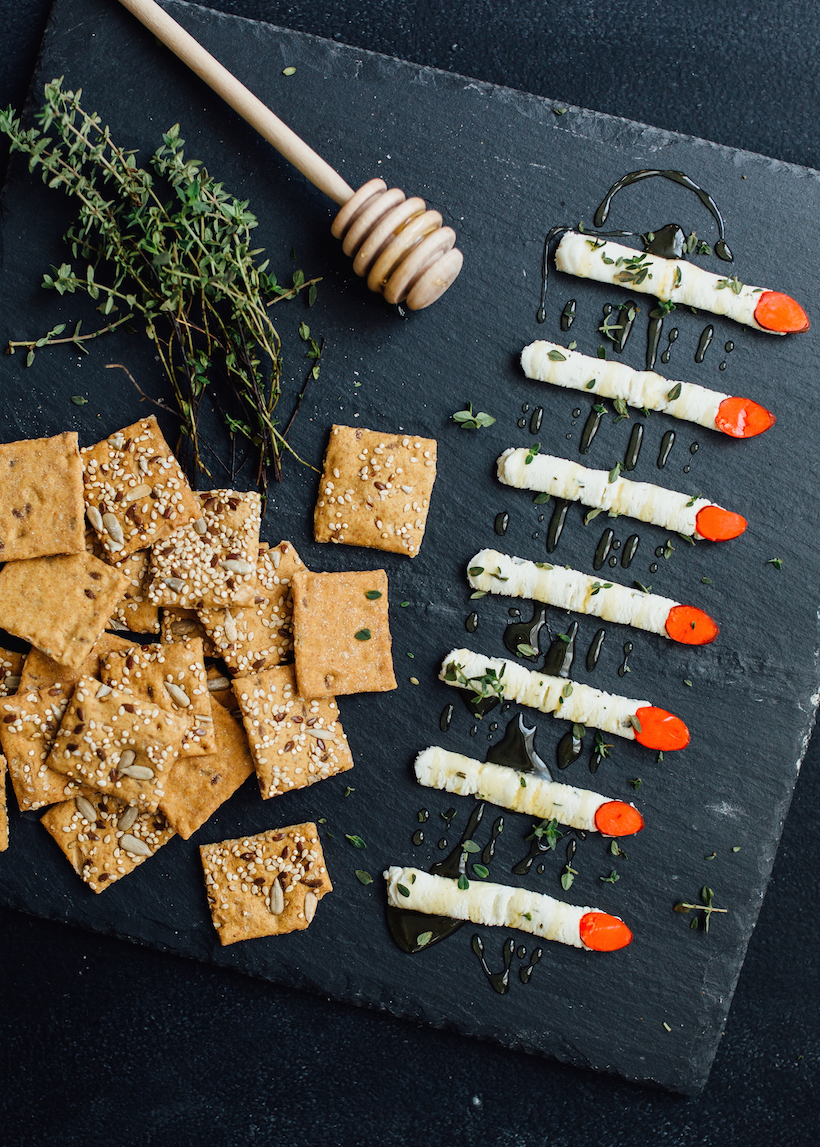 cheese witch finger appetizer