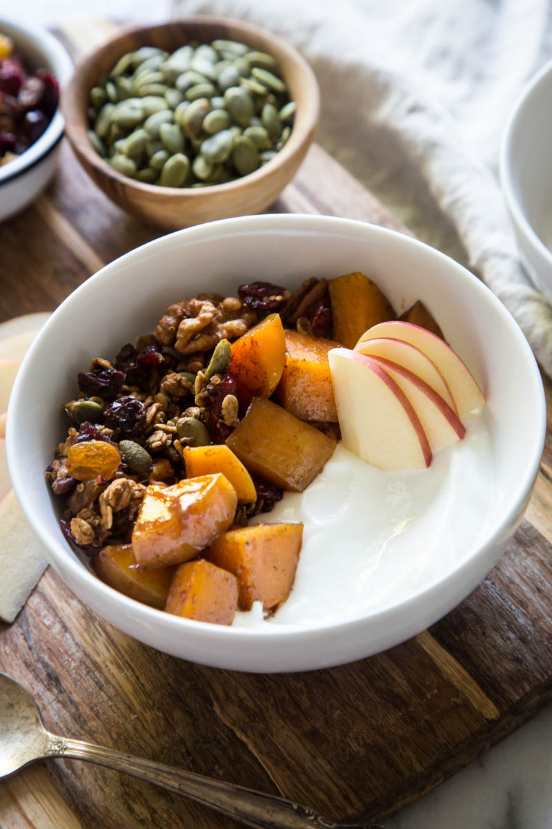 autumn harvest breakfast bowls