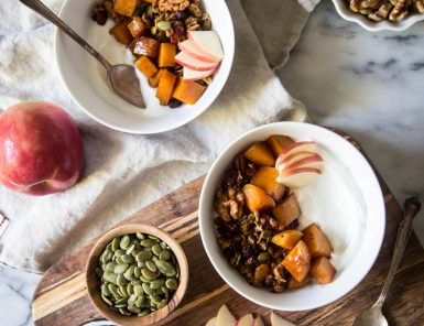 autumn harvest breakfast bowls