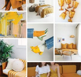 mustard yellow mood board