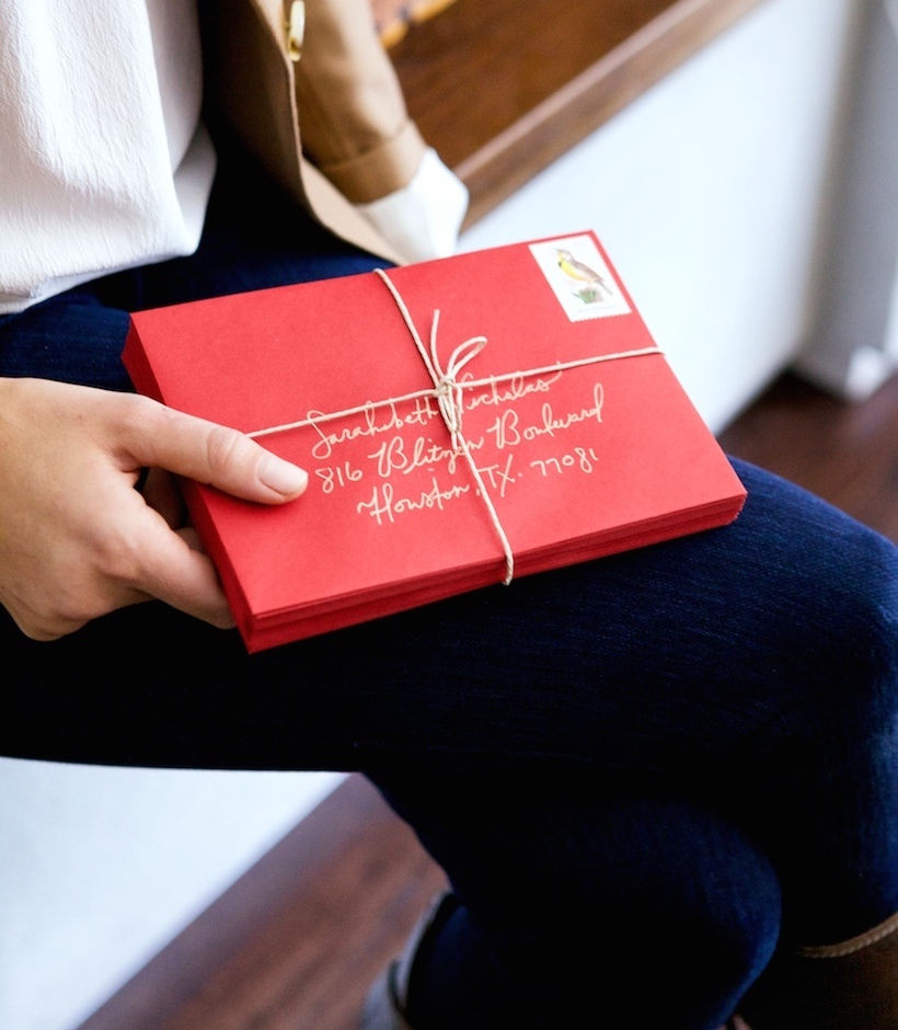 Chanel has 10 fun ideas for how to address your holiday cards so they stand out this year!