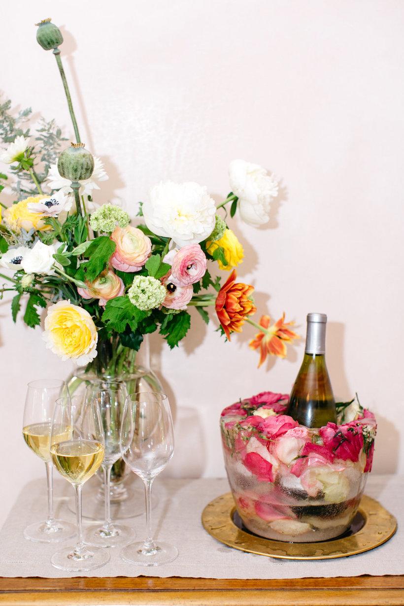 flower ice mold wine bucket!