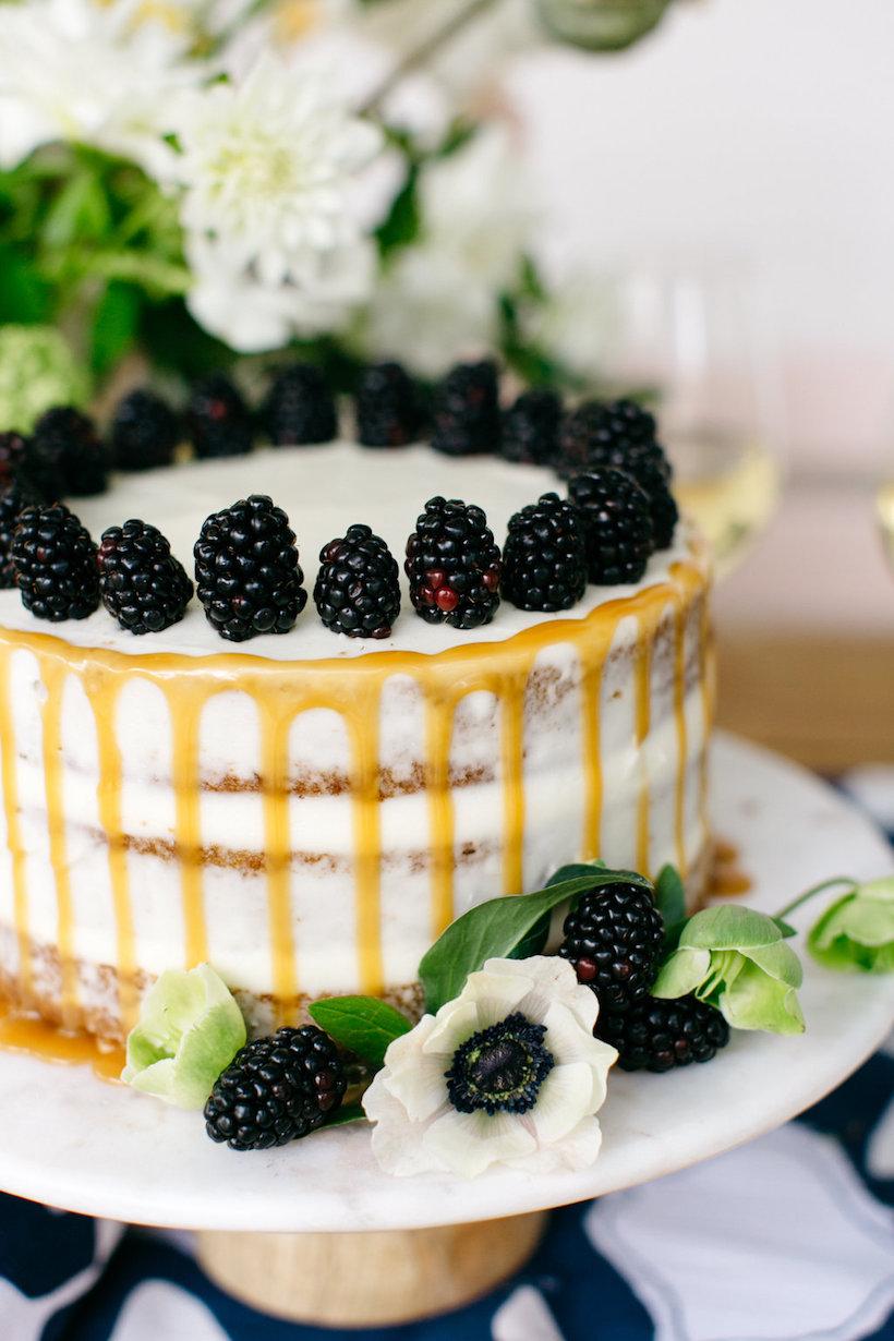 vanilla and berry cake for dessert