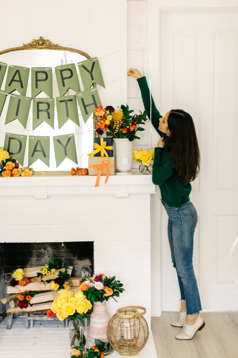 homemade birthday banner