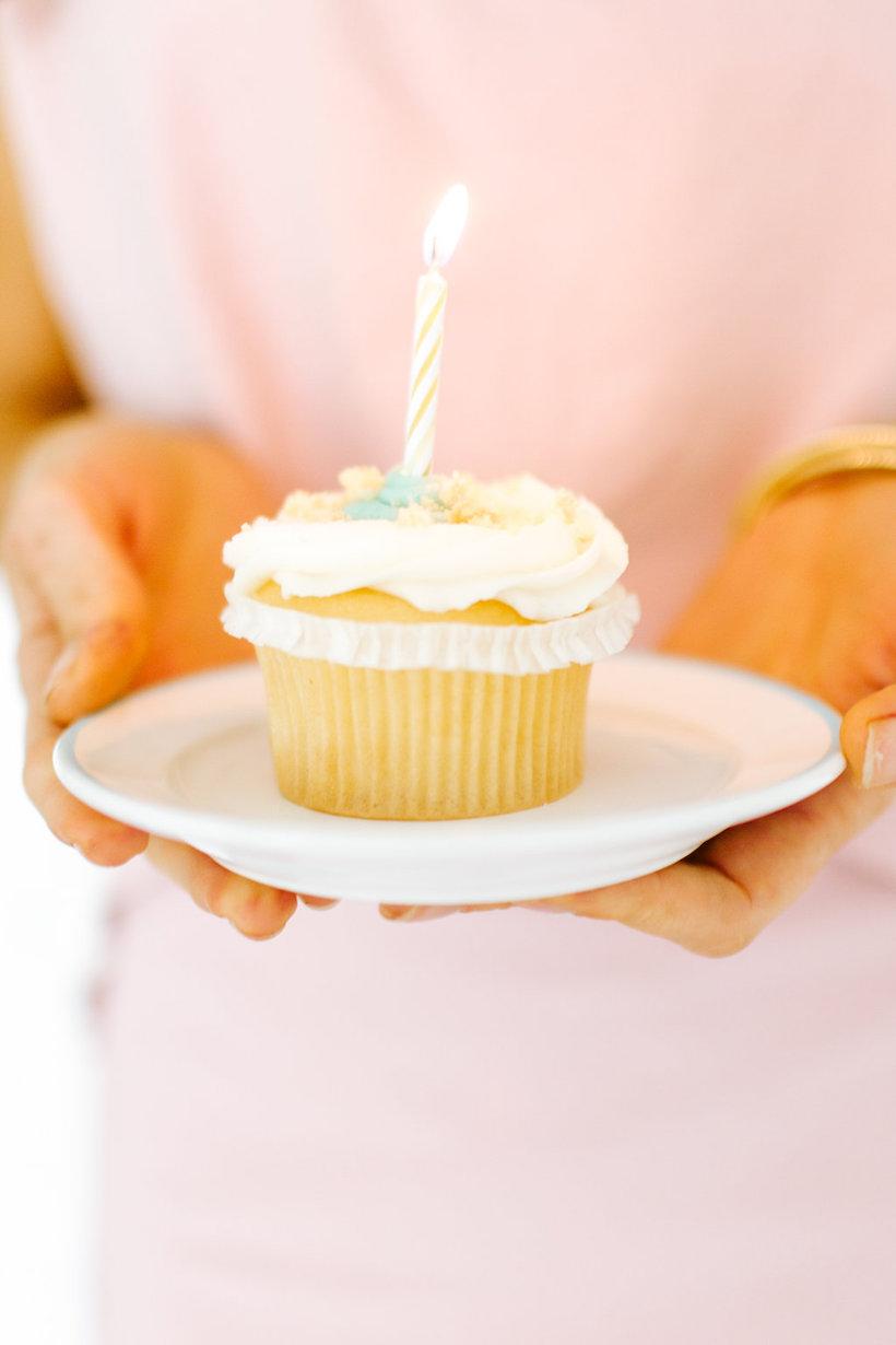 pretty birthday cupcake